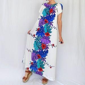 60's tropical mumu / maxi dress